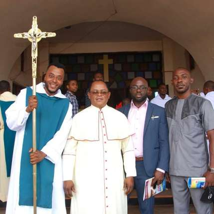 Benson Okonkwo honoured by the catholic diocese in Enugu
